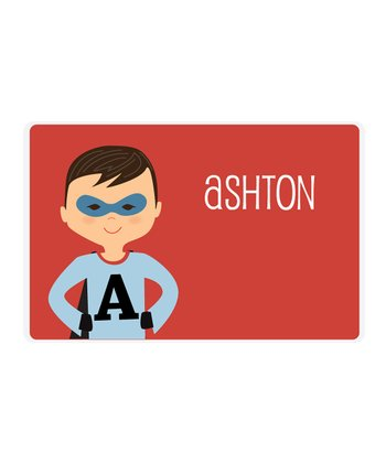 Raven-Haired Superhero Personalized Place Mat