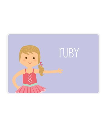 Dark Blonde Ponytail Ballerina Personalized Place Mat