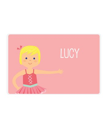 Blonde Ballerina Personalized Place Mat