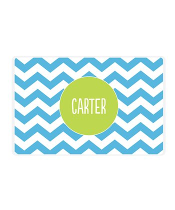 Blue Zigzag Personalized Place Mat
