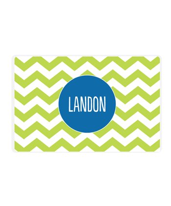 Green Zigzag Personalized Place Mat