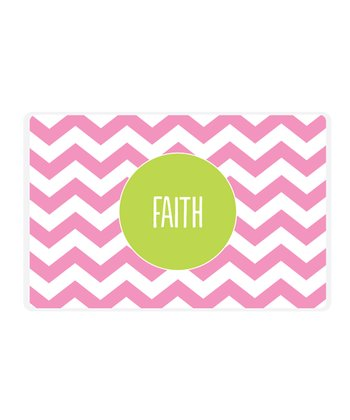 Pink Zigzag Personalized Place Mat