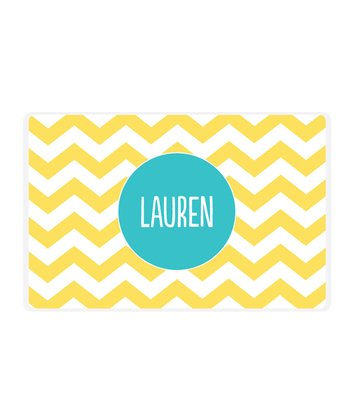 Yellow Zigzag Personalized Place Mat