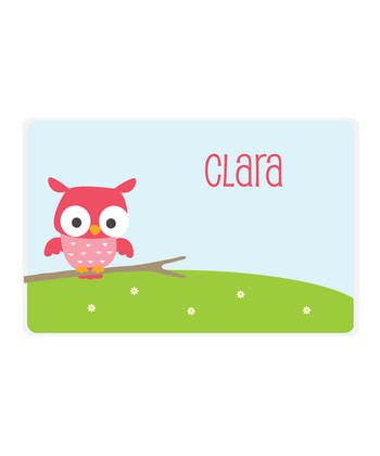 Owl Personalized Place Mat