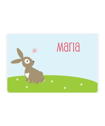 Bunny Personalized Place Mat