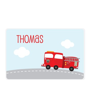Fire Truck Personalized Place Mat