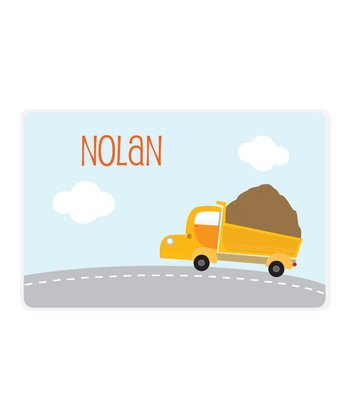 Dump Truck Personalized Place Mat