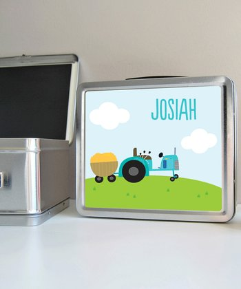 Tractor Personalized Lunch Box