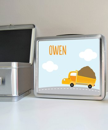 Dump Truck Personalized Lunch Box