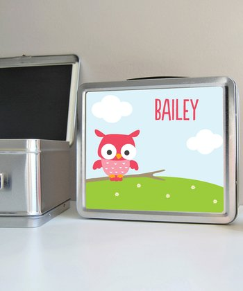 Owl Personalized Lunch Box