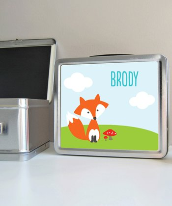 Fox Personalized Lunch Box