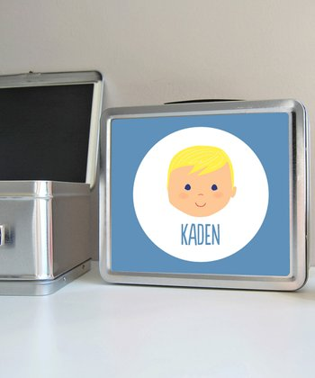 Blonde Boy Personalized Lunch Box