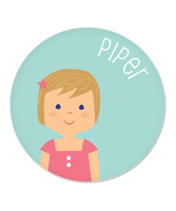 Dark Blonde Girl Personalized Plate