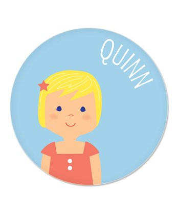 Blonde Girl Personalized Plate