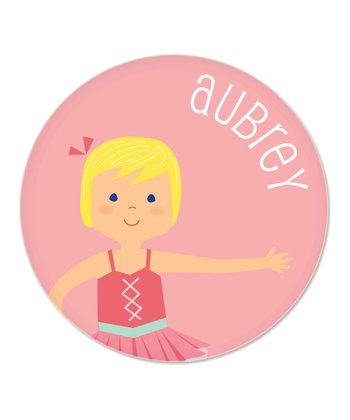 Blonde Ballerina Personalized Plate