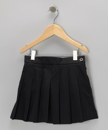 Black Pleated Skort - Girls