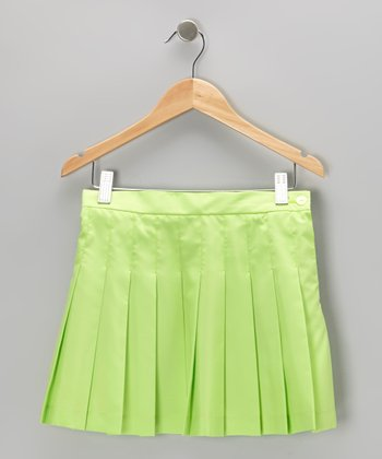 Lime Pleated Skirt - Girls