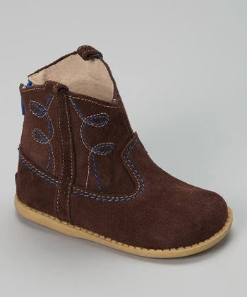 Brown Suede Buck Boot
