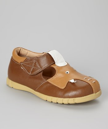 Brown Elephant T-Strap Shoe