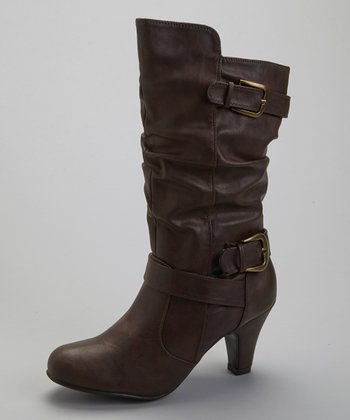 Cognac Buckle Wrap Boot