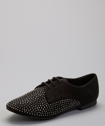 Black Kasey Studded Oxford