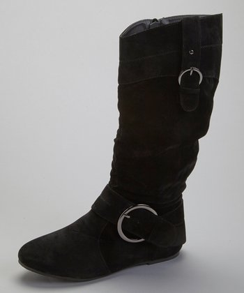 Black Mimi Buckle Boot