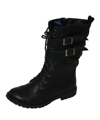 Black Canyon Buckle Boot