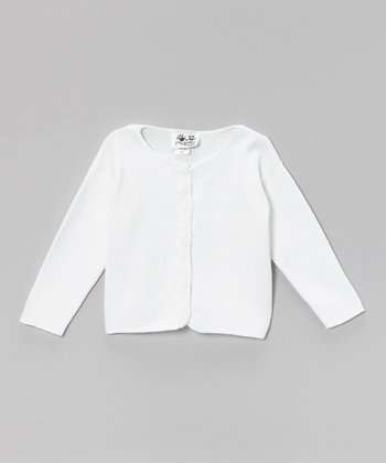 White Lace Cardigan - Infant, Toddler & Girls