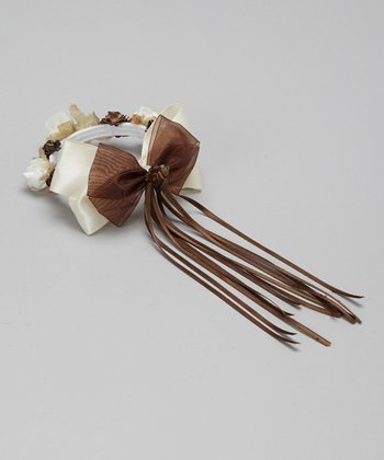 Brown Flower Bow Halo