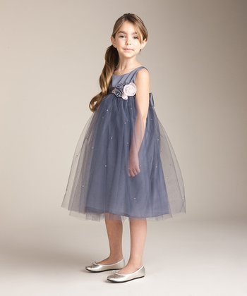 Slate Roses Babydoll Dress - Girls