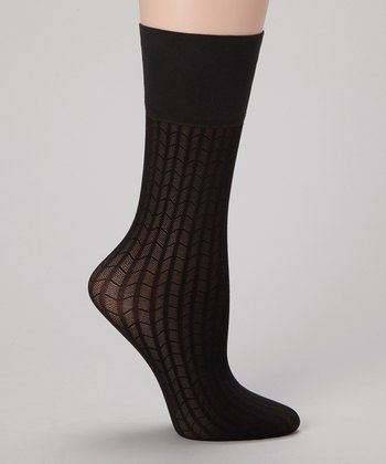 Black Web Trouser Socks Set - Women & Plus