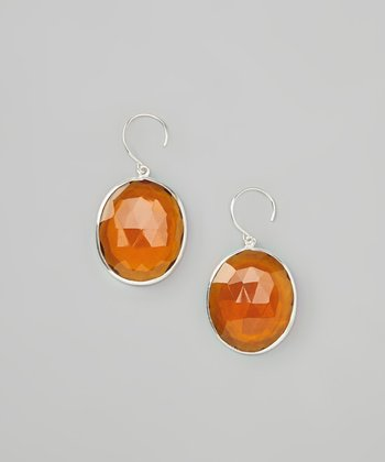 Daisy Yellow & Sterling Silver Faceted Drop Earrings