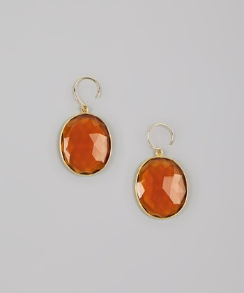 Daisy Yellow & Gold Faceted Drop Earrings