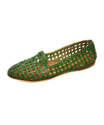 Grass Agra Metallic Leather Flat