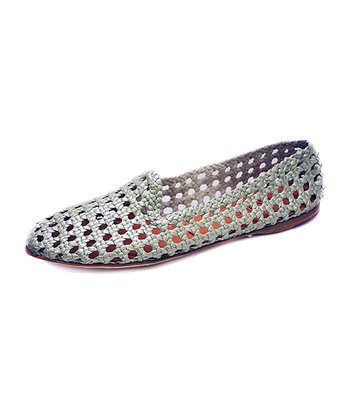 Silver Agra Metallic Leather Flat