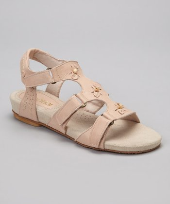 Sand Cynthia Leather Sandal