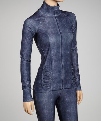 Blue Lavender Denim Yoga Jacket