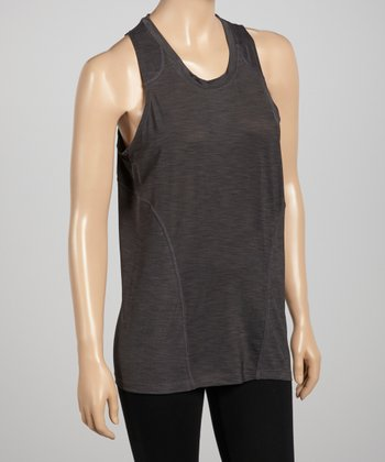 Gray Slub Top
