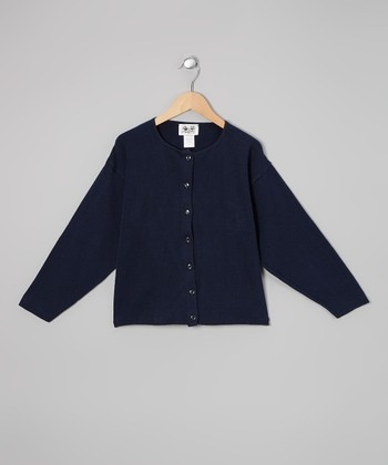 Navy Cardigan - Girls
