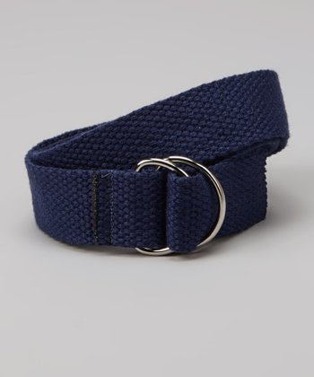 Navy Blue D-Ring Belt