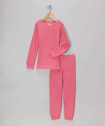 Pink Thermal Top & Pants - Infant, Toddler & Girls