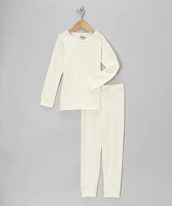 White Thermal Top & Pants - Infant, Toddler & Girls