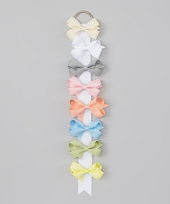 Pastel 2'' Bow Clip & Holder Set