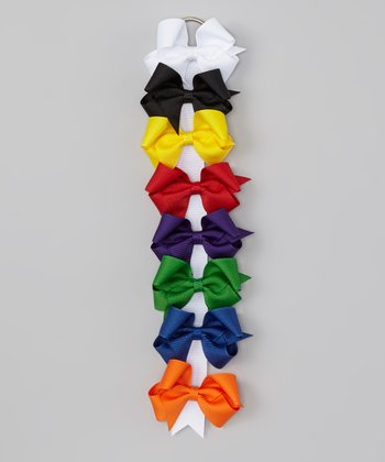 Primary 4'' Bow Clip & Holder Set