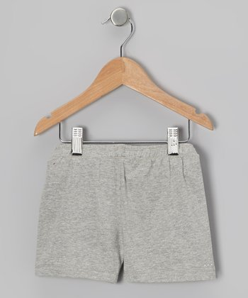 Heather Gray Rhinestone Undershorts - Toddler & Girls