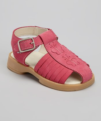 Pink Butterfly Closed-Toe Sandal