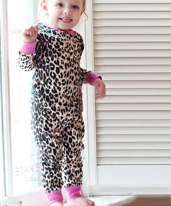 Pink & Brown Leopard Pajama Set - Toddler & Girls