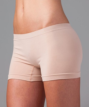 Beige Seamless Boyshorts - Women & Plus