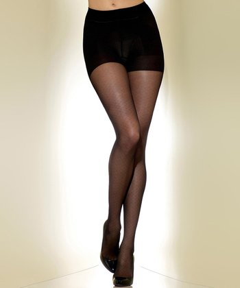 Black Sheer Diamond Shaper Tights - Women & Plus
