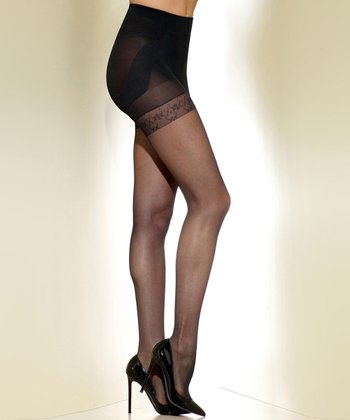 Black Sheer Shaper Tights - Women & Plus